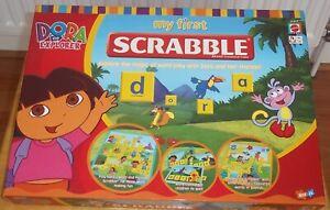 DORA THE EXPLORER MY FIRST SCRABBLE ENGLISH / SPANISH MATTEL VGC
