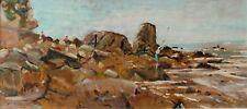 Dipinto olio su Tavoletta Piero Vaccari Quercianella Livorno cm 51 x 24 ca,.
