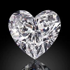 Lovely 7 X 7 MM 1.10 CT Full White Heart Shape Cut Loose Moissanite 4 Ring