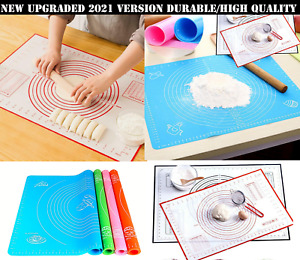 Non Sticky Silicone Baking Pastry Kneading Rolling Mat Fondant Cake Dough LARGE