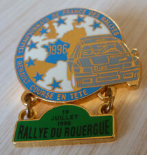 PIN'S RALLYE DU ROUERGUE TEAM DIAC MICHELIN RENAULT CLIO WILLIAMS FRANCE 1996