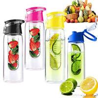 700ML Sports Fruit Infusing Infuser Water Lemon Juice Health Bottle Flip KY
