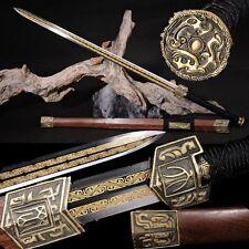 High Quality Chinese Sword Han Jian High Manganese Steel Sharp Blade Handmade #3