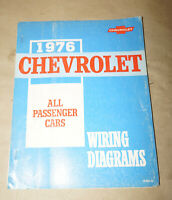 1976 Chevrolet All Passenger Cars Wiring Diagrams Service Manual Book