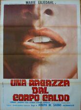 SEDUCTION OF INGA Italian 2F movie poster 39x55 MAIE LILJEDAHL JOE SARNO 1968