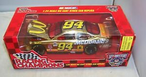 1:24 RACING CHAMPIONS 1998 #94 MCDONALDS GOLD CHROME NASCAR 50TH BILL ELLIOTT