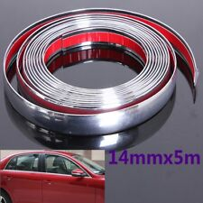 16FT 5M x 14mm Chrome Moulding Trim Strip Car Door Edge Scratch Guard Protector