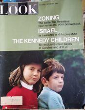 LOOK Magazine 1965 October Isreal, Kennedy Children, Zoning, JFK