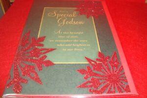"Godson CHRISTMAS Greeting Card "" For a Special Godson   "" C45"