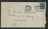 CANADA  (P1712B)  GV 10C ADMIRAL BLUE SINGLE FRANK TO AUSTRALIA