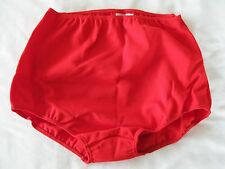 "Classic GYMPHLEX XL 100% Bri Nylon School Gym Knickers in SCARLET (W30-38"") BNIB"