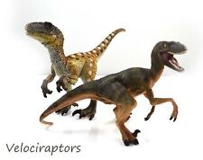 Jurassic Dinosaur Velociraptor 2 figures set Schleich Papo style Collectible