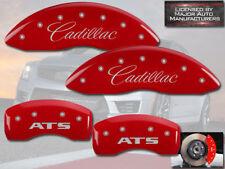 "2013-2018 ""Cadillac ATS"" J55 Front + Rear Red MGP Brake Disc Caliper Covers 4pc"