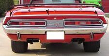1971-74 Challenger Rear Quarter & Trunk Moldings Set w/ hardware NEW 71 72 73 74