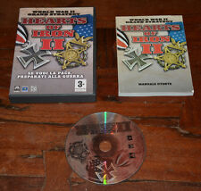 Hearts of Iron II World War II Grand Strategy Pc 1a Stampa Italiana con Manuale