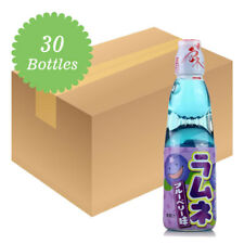 Hatakosen Ramune Soda - Blueberry Flavour 200ml (30 Bottles)
