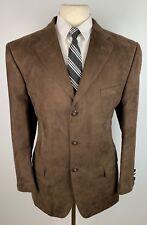 Luca Rossi Men's 42R Brown Velvet Three Button Blazer Sports Coat Suit Jacket