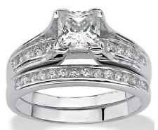Wedding Ring Set Women's Size 5-9 2.55c Princess Cut Aaa Cz Stainless Steel