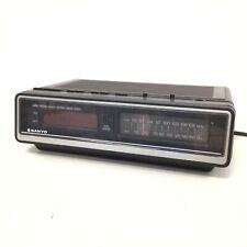 Vintage Sanyo LED Digital Clock AM/FM 2 Band Radio Brown #454