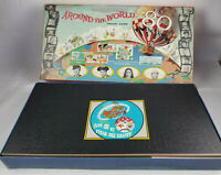 Around the World in 80 Days Vtg Board Game Transogram Toys 1957 Unused Complete