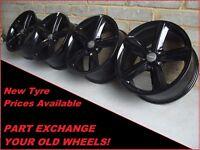 """2373 Genuine 18"""" Audi A3 A4 A6 TT 5 Spoke Black Alloy Wheels 8K0601025Q"""