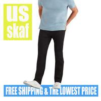 7 FOR ALL MANKIND SLIMMY Slim Straight Leg STRETCH Black Jeans 30 X 33