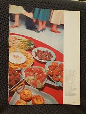 Hors d'oeuvres - 1950s Book Print