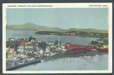 Newport, Vermont & Lake Memphremagog 1920's PC by Santway Photo-Craft Co. UNUSED