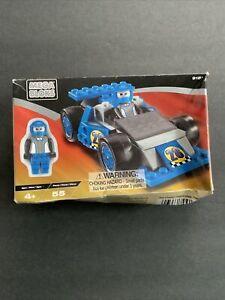 9181 mega bloks Blue Race Car Driver Mini figure set 55 Pcs NEW SEALED box