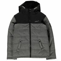 Gelert Quest Jacket Youngster Boys Down Coat Top Full Length Sleeve Hooded Zip