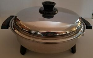 """Electric skillet Cat. No.0120CU Stainless Steel 12"""" OIL CORE"""
