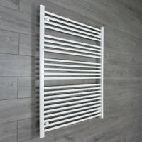 1000 mm Wide White Ladder Heated Towel Rail Radiator Designer Bathroom Warmer