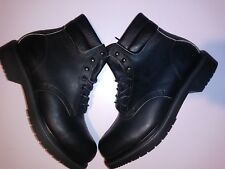6.5D Red Wing  Black Lace Up Work Boots 2243 Steel Toe Grunge biker Made in USA