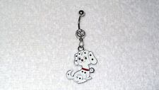 Doggy Dog Pet Dalmatian Charm Belly Button Navel Ring Body Jewelry Piercing