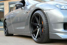 "20"" RIVIERA RV177 ALLOYS (Matt Black) FIT: NISSAN GT-R staggered"