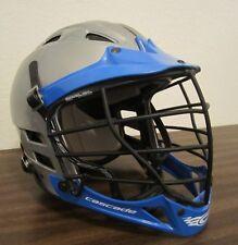 M/L Cascade CPV SPR Fit Lacrosse helmet gray/silver blue