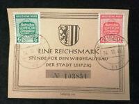 Deutschland Alliierte Besetzung 24.10.1945 - MiNr.124-125  Spende Wiederaufbau