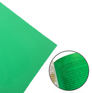 Colour Overlay For Dyslexia A4 Green Pack - 4 Overlays For Visual Stress Relief