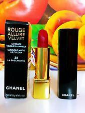 CHANEL ROUGE ALLURE VELVET LUMINOUS MATTE LIP COLOUR #38 LA FASCINANTE New in Bx