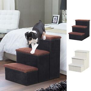 Haustiertreppe Faltbar Katzentreppe Einstiegshilfe mit Innenstauraum 2 Farben