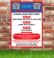 Slide Safety Sign Bouncy Castle Disco Dome