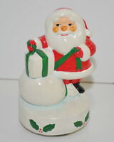 Gorham Christmas Santa Claus Musical Music Box Figurine Vintage
