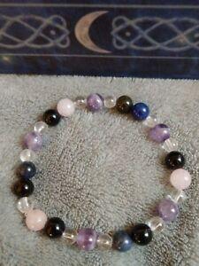 Spirit guide crystal healing bead bracelet quartz sodalite amethyst tourmaline
