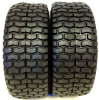 (2) New 15x6.00-6 TURF TIRES 4 Ply Tubeless for Garden Tractor / Rider / Mower