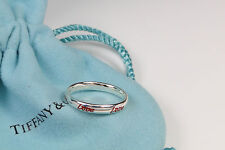 Tiffany & Co. Picasso Graffiti Love Band Ring Silver & Red Enamel Size 5.5