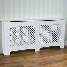 Radiator Cover Traditional White Large MDF Classic Wood Cabinet Grill Furniture