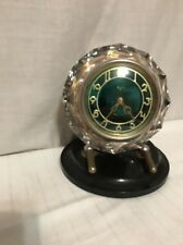 Majak Crystal And Bakelite Mantle Clock USSR Working Art Deco