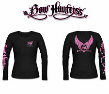 Bow Huntress Women's Long sleeve hunting t shirt,deer hunter,compound bow,pink