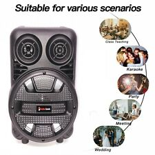 8' Portable Fm Bluetooth Speaker Subwoofer Heavy Bass Sound System Party 1500W