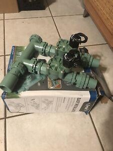 ORBIT 57250 Heavy Duty Sprinkler Valve Manifold system 2 valves open box